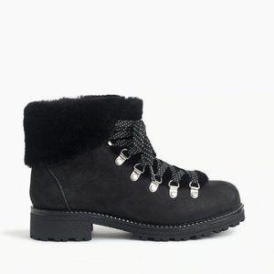 NWB J Crew Nordic boots Black size 7